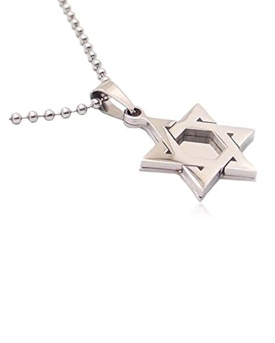 Blackjack Jewelry Collar Star Of David Pendant With 24″ Bead Chain