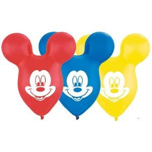 "PIONEER BALLOON COMPANY Mickey Ears, 15"", Yellow/Red/Blue - 1"