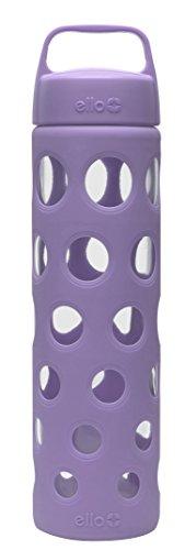 Ello Pure BPA-Free Glass Water Bottle with Lid, 20 oz, Purple Fizz