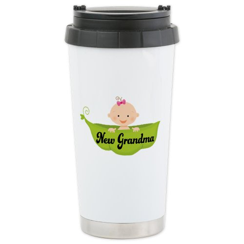 Cafepress New Grandma Pea Pod Ceramic Travel Mug - Standard Multi-Color front-508253