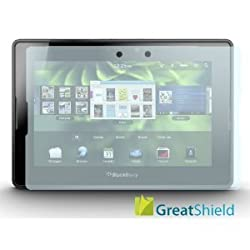 GreatShield Ultra Smooth Clear Screen Protector Film for RIM Blackberry Playbook Tablet (3 Pack)