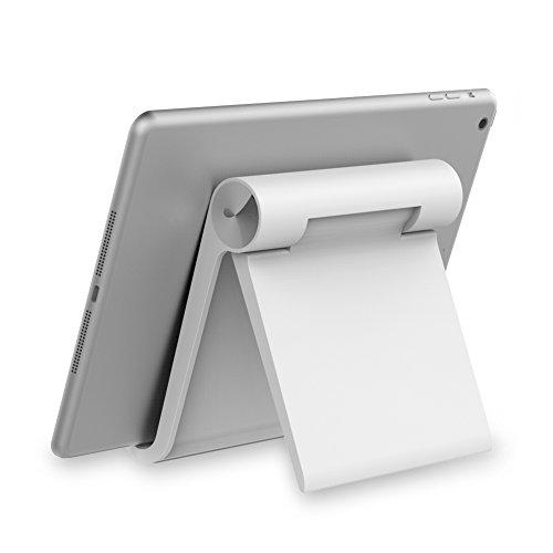 Support Tablette, Ugreen Support Téléphone et Tablette Multi-Angles pour Smartphones, Tablettes, E-readers, Blanc
