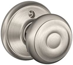 Schlage F170GEO619 Georgian Dummy Knob, Satin Nickel