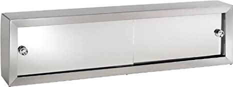 Jensen V24 Cosmetic Box with Mirror Doors, 24-1/4-Inch by 8-3/4-Inch by 4-1/4-Inch
