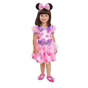 Disney Minnie Mouse Toddler Complete Costume Minnie's Dream Dress Fits 2T - 4T
