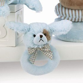 Lil Waggles Plush Blue Dog Ring Rattle