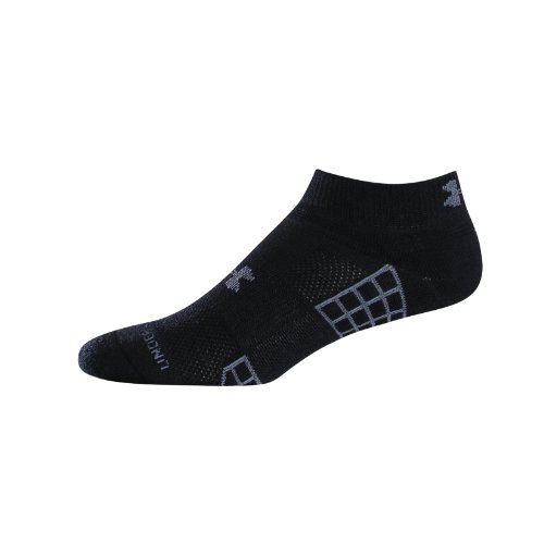 Under Armour Men's HeatGear® III Lo Cut 2-Pack Socks by Under Armour Large Black