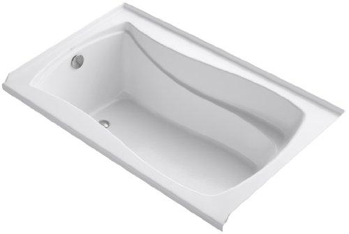 KOHLER K-1242-L-0 Mariposa 5-Foot Bath with Integral Tile Flange, Left-Hand Drain, White