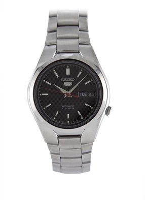 Seiko Men's SNK607 Automatic Black Dial Stainless Steel Watch