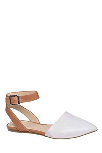 Holt Pointed Toe Ankle Strap Flat Sandal