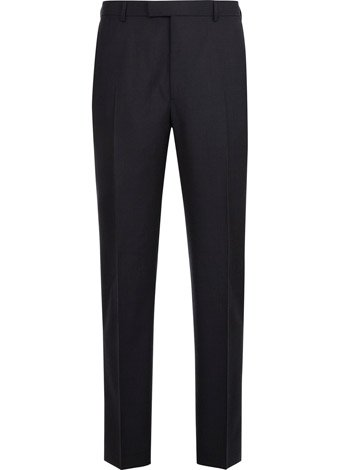 Austin Reed Contemporary Fit Navy Silk Mix Trousers REGULAR MENS 34