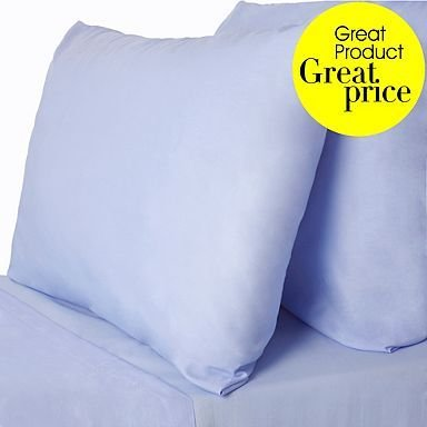 "600 Thread Count 100% Egyptian Cotton Solid Blue Twin Xl 20"" Deep Pocket Sheet Set front-915159"