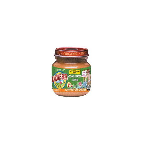Earth'S Best Baby Foods Sweet Potato Apricot, 4-Ounce (Pack Of 12) front-195511