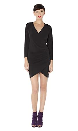 Hale Bob Women's Femme Its a Wrap Dress Black LG