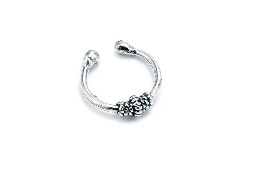 Sterling Silver .925 Rope Design Ear Cuff Wrap Include Special Gift Pouch.