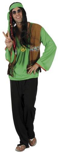 Costume hippie verde uomo Taglia Unica