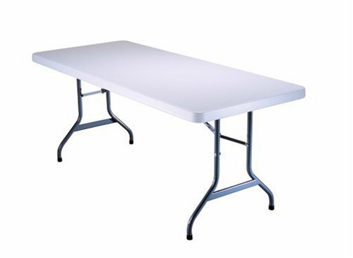 Lifetime 6-Foot Utility Table with 72-by-30-Inch Molded Top, White Granite