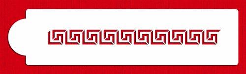 Designer Stencils C481 Greek Key Cake Stencil, Beige/Semi-Transparent