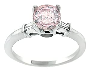 1.25 CT Pink Diamond Engagement Ring