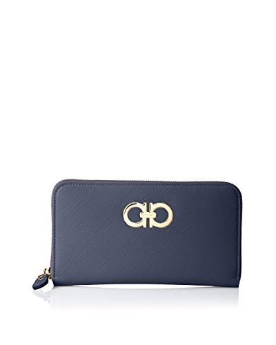 Salvatore Ferragamo Women's Leather Wallet, Oxblue