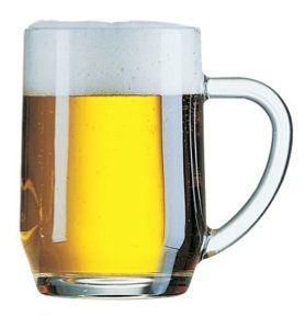 Ultra Break Resistant Glass – Haworth Mug: 4 PAK – 20oz. Mugs hold a Pint.
