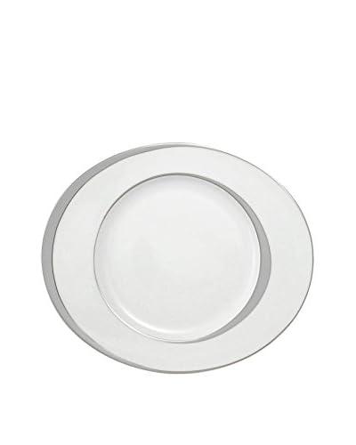 Guy DeGrenne Oval Boreal Ellipse Dinner Plate, White