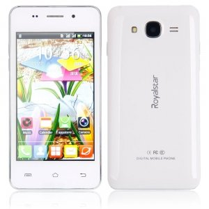 """Royalstar ip5 4.0"""" Dual Card Dual Standby Android 4.2.2 Single Core GSM Chinese English SD Card Cellphone ( Free Case) White"""