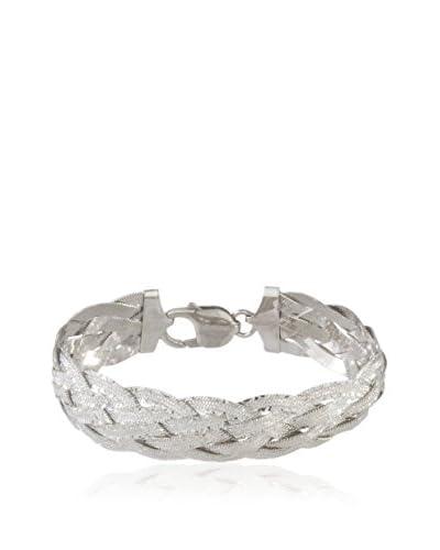 Momenti d'Argento Collar Braided Diamond Cut plata de ley 925 milésimas