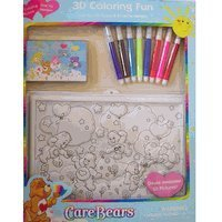 Care Bears 3d Coloring Fun Activity Picture & Marker [Toy] Model # 40035