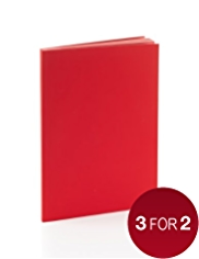 Premium A5 Red Lined Notebook