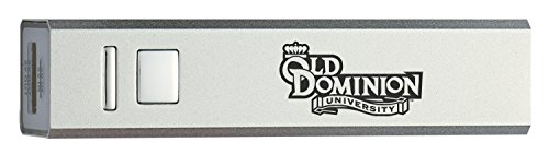 Old Dominion University - Portable Cell Phone 2600 mAh Power Bank Charger - Silver (Dominion Merchandise compare prices)