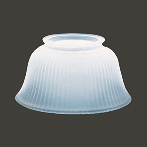 "Lamp Shade White Glass Traditional 3 5/8"" H X 4"" Fitter 