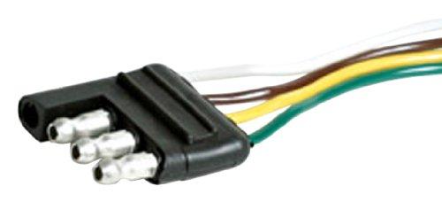 "Camco 64841 24"" Long 4-Way Wishbone Trailer Harness Male Plug"