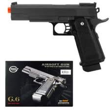 G6 Heavy Metal Airsoft Gun Pistol Black w/ BB's