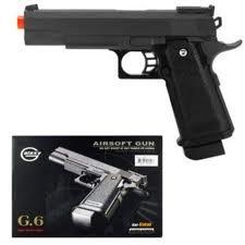 G6 Heavy Metal Airsoft Gun Pistol Black w/ BB's