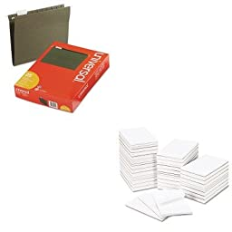 KITUNV14115UNV35625 - Value Kit - Universal Bulk Scratch Pads (UNV35625) and Universal Hanging File Folders (UNV14115)