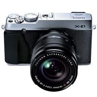 Fujifilm X-E1 16.3 MP Compact System Digital Camera with 2.8-Inch LCD and 18-55mm Lens (Silver)