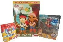 Jake and the Never Land Pirates 3 PC Bundle1 Let39s Go Crew Coloring Book1 RoseArt Jumbo Washable Cr
