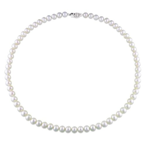 New York Pearls White FW Pearl 18-inch Necklace (6.5-7 mm)