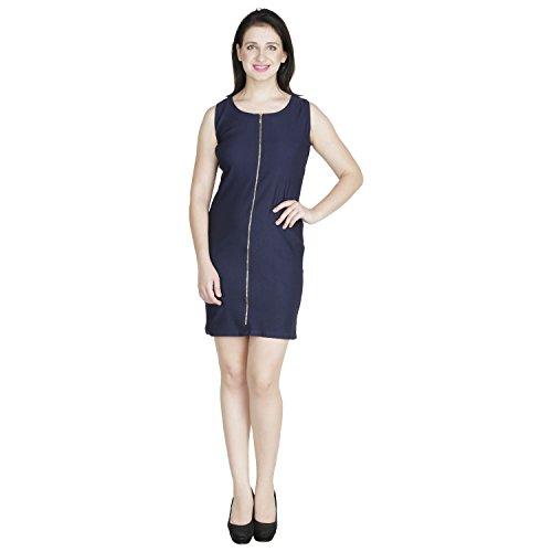 RAMPWALK Navy Poly Lycra M Western Wear Party Dresses for Women
