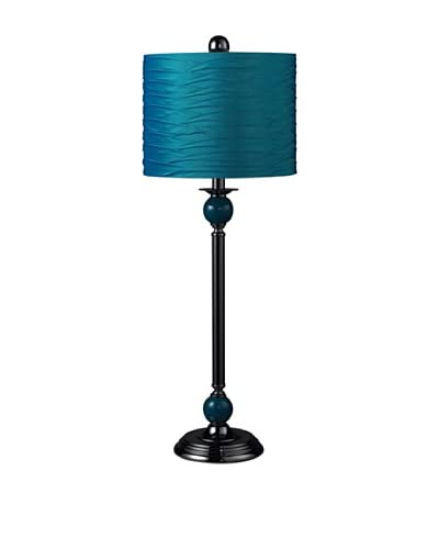 Artistic Lighting 1-Light Metal Buffet Lamp, Black/Turquoise