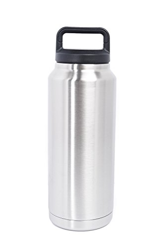 36 OZ Stainless Steel Double Wall Vacuum Insulated Twist Cap Leak-Proof & Spill-Proof Travel Outdoor Rambler Bottle Thermos Flask Beverage Cooler Good with Coffee Beer Water Tea. Same as Yeti (Reach In Beer Cooler compare prices)
