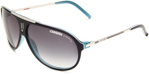 Carrera Hot/S Aviator Sunglasses,Royal Blue & Palladium Frame/Grey Gradient Lens,One Size (Sunglasses Carrera Blue compare prices)