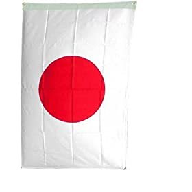 NationalCountryFlags Polyester 3-by-5-Feet Japanese Flag