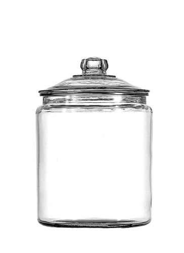 Anchor Hocking Glass Heritage Hill Jar with Glass Lid, 1/2-Gallon (Flour Jar compare prices)