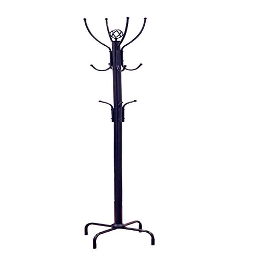 Frenchi Furniture Black Metal Coat Rack, 12 Hooks