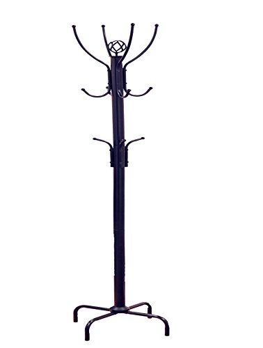 Frenchi Furniture Black Metal Coat Rack, 12 Hooks (Coat Hanger Stand compare prices)