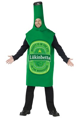 Lukinbetta Beer Bottle Costume - Standard - Chest Size 33-45 front-909834
