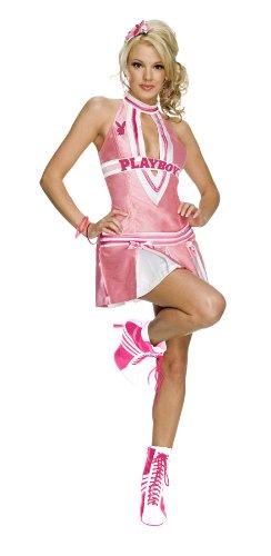 [Secret Wishes Women's Playboy Cheerleader Costume, Pink/White, Medium] (Cheerleading Costumes Halloween)