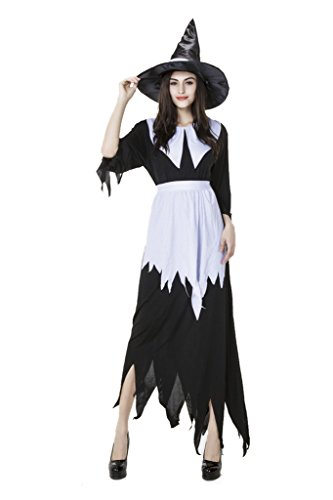 MZX Women's Halloween Roleplay Black Witch Dress